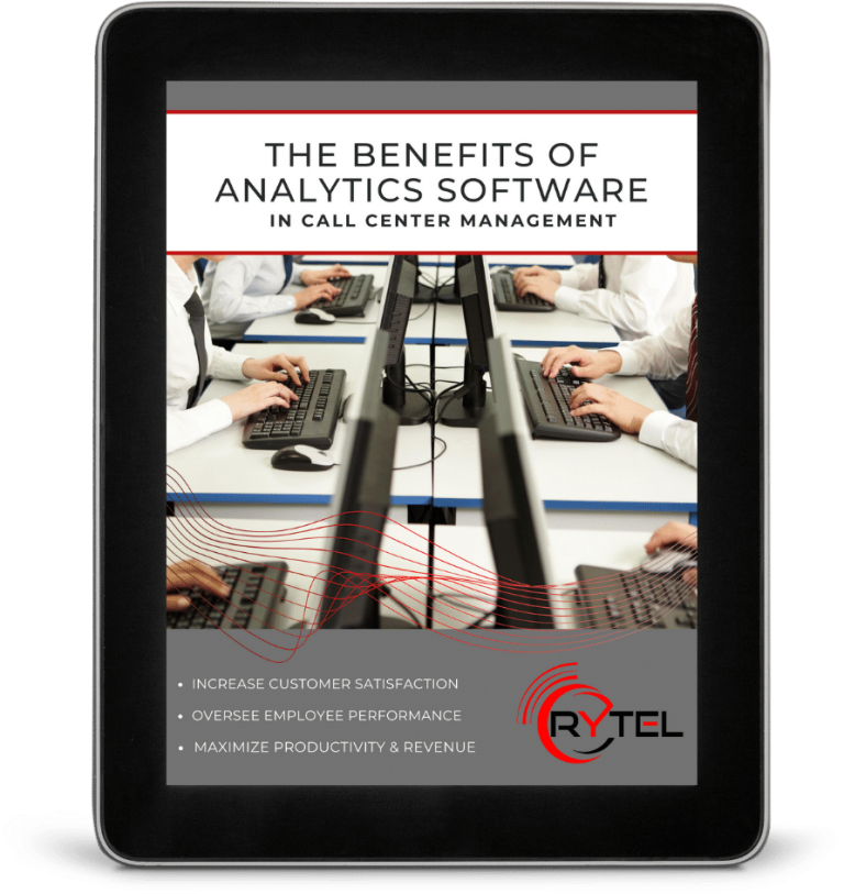 Call Center Analytics on Tablet