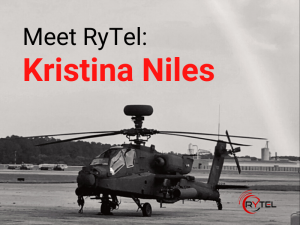 Kristina Niles Army National Guard Interview Featured Image with Helicopter
